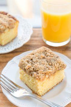 Orange Coffee Cake with Cinnamon Streusel Topping from @Fifteen Spatulas | Joanne Ozug