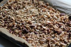 Crunchy Nut and Oat Granola with Spiced Plum Compote