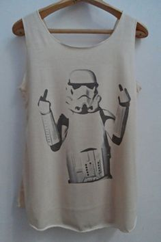 Funny Star Wars Fuck You  Stormtrooper  Tshirt by vintageartshirt