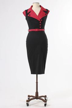 The Veronica Pencil Dress by Hell Bunny - Dresses - Clothing