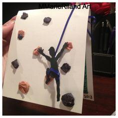 3D Rock climbing card I made!