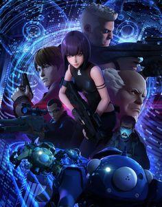 Netflix Original Anime, Anime Ghost, Arte Lowbrow, Motoko Kusanagi, Strike The Blood, Neon Nights, Ghost In The Shell, Funny Vid, Manga Comics