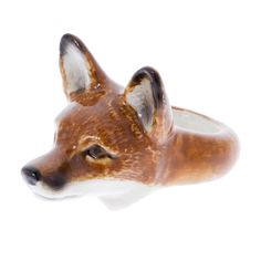 bbbcbeec3980 Turn heads with this unique fox ring. Crafted in hand-painted porcelain