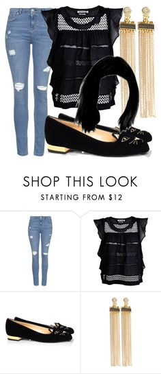 """""""Untitled #300"""" by sara-bitch1 ❤ liked on Polyvore featuring Topshop, Étoile Isabel Marant, Charlotte Olympia and Pieces"""