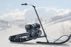Homemade Snowmobile : 7 Steps - Instructables Snow Vehicles, Bumper Hitch, Bike Challenge, Snow Sled, Snow Machine, Drift Trike, Chenille, Mini Bike, Go Kart