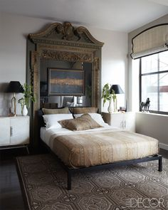 Amazing headboard idea. A Manhattan apartment by Matthew Patrick Smyth