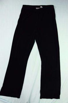 Eileen Fisher Ponte Pants PL Petite Large Black Straight Leg Pull On  #EileenFisher #Knitpants
