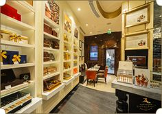 Godiva Chocolatier, Abu Dhabi, designed and executed by #TheFirstFerry. A store befitting the pride of the reputed hand crafted chocolate brand.  #InteriorDesign #Artistry #Luxury #Interiors #Godiva #Chocolates