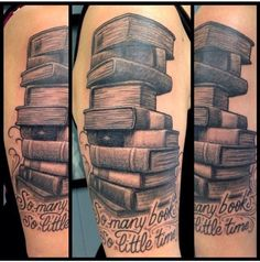 If I ever get a thigh tattoo, you know it's gonna be a stack of books.