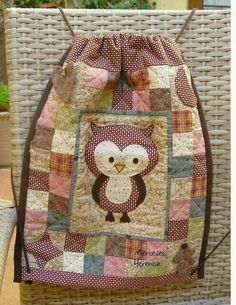 Owl Quilts, Baby Quilts, Patchwork Bags, Quilted Bag, Owl Patterns, Quilt Patterns, Owl Bags, Diy Bags Purses, Felt Owls