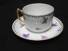 Antique Vienna Austria Hand Painted Tea Cup and Saucer Tea Pot Set, Pot Sets, Empty Cup, China Cups And Saucers, China Sets, Vienna Austria, Vintage China, Tea Cup Saucer, Teacups