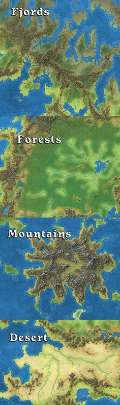 Previews of my map art for the Great Caldera.