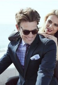 Keep your cool and your style whatever the weather, in these Super Merino wool suits. A luxurious yet eminently practical suiting fabric, Merino has natural elasticity and breathability, making these suits a pleasure to wear. Summer Suits, Tailored Suits, Wool Suit, Mens Suits, Your Style, Mens Sunglasses, Pure Products, Fashion Outfits, Navy