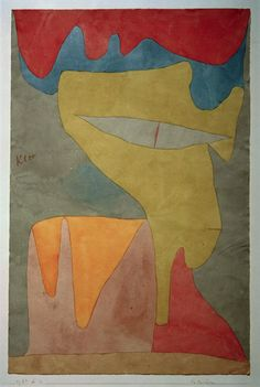 Paul Klee (1879-1940), Fräulein (Young Lady), 1934 (22). Watercolour and pencil on paper, on cardboard. 48cm H x 31.5cm W.