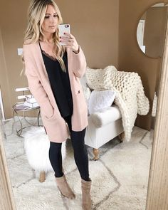 "2,508 Likes, 95 Comments - The Sue Style File (@thesuestylefile) on Instagram: ""Fab Find Friday This blush cardi is THE perfect transition piece into spring. Oh, and did I mention…"""