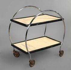 Art Deco Bar Cart, circa 1930.