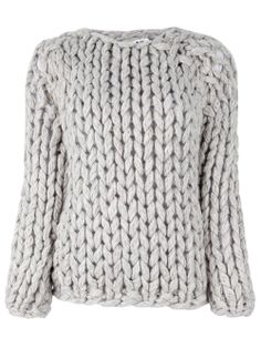 looks so cozy and warm for the winter...perfect loung wear for a weekend    MM6 BY MAISON MARTIN MARGIELA - Heavy Knit Sweater.