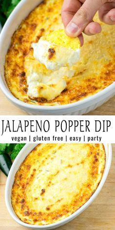 Jalapeno Popper Dip [vegan] – Contentedness Cooking This Jalapeno Popper Dip is easy to make and delish hot or cold. If you are looking for a not only vegetarian but also vegan jalapeno dip. Vegan Appetizers, Vegan Dinner Recipes, Dip Recipes, Vegan Recipes Easy, Whole Food Recipes, Vegetarian Recipes, Cooking Recipes, Easy Vegan Snack, Vegan Recipes With Jalapenos