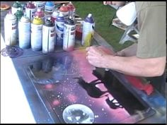 ▶ Spray Paint Art live painting #3 of 8 (elephant stencil) - YouTube