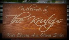 Customized house sign for outdoors Outdoor Wood Signs, Pacific Place, Home Signs, Sign Design, Chalkboard Quotes, Art Quotes, Outdoors, Neon Signs, House
