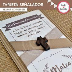 Rústico: tarjeta señalador - Todo Bonito Texts, Paper Envelopes