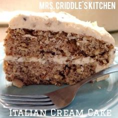 Italian Cream Cake- THM Dessert- Mrs. Criddle's Kitchen