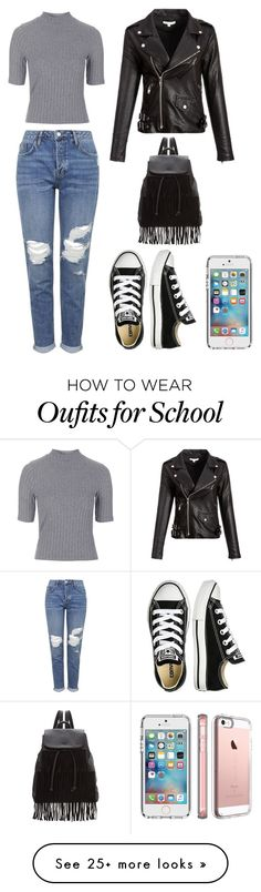 """School day !"" by love5sosforever on Polyvore featuring Topshop, Converse, Speck and Glamorous"
