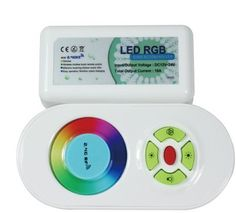2.4G high-performance RGB LED touching remote controller,DC12/24V,15 automatical changing modes,control distance 20-30m