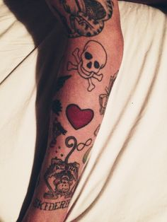 www.lazer.dk heart tattoo, monkey, sailor jerrey, old school tattoos, arm, sleeve, skull tats