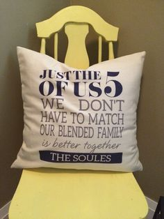 Our new thirty-one family pillow! I'm in love! Charcoal and navy blue…