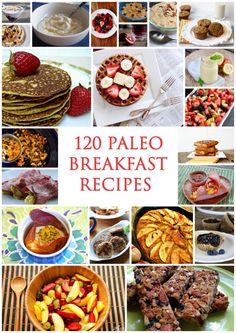 120 Best Paleo Breakfast Recipes http://www.paleozonerecipes.com/paleo-breakfast/paleo-breakfast/ #paleo