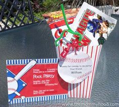 Baseball theme party favors