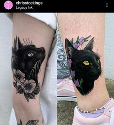 Black Cat Tattoos, Body Mods, I Tattoo, Tatting, Stockings, Photo And Video, Tattoo Ideas, Instagram, Appliance