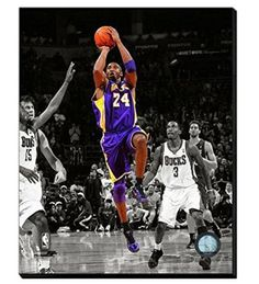 Kobe Bryant Canvas Framed Over With 2 Inches Stretcher Bars-Ready To Hang- Awesome & Beautiful