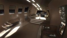 space ships interior OR exterior Spaceship Interior, Futuristic Interior, Futuristic Art, Sci Fi Environment, Environment Design, Space Story, Aircraft Interiors, Free Desktop Wallpaper, Wallpapers
