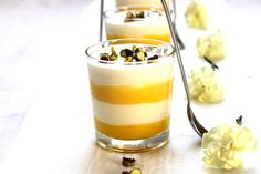 for my next wine dinner dessert... italian theme Limoncello Panna Cotta with Saffron-Lemon Curd & Florentine Cookies