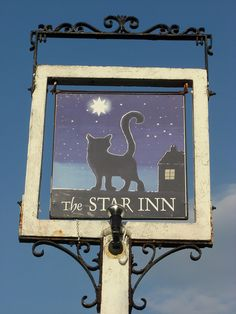 Sign outside of the haunted Star Inn in Dartmoor.