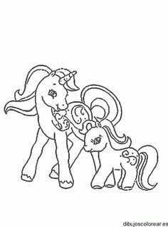 Dibujo de dos caballitos pony