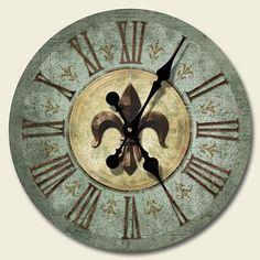 Bourbon Street Wood Wall Clock