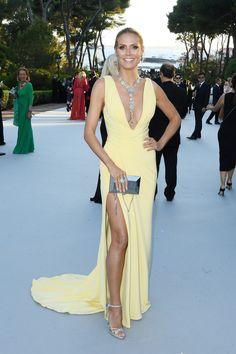 La edition du gala de l'amfAR a Cannes - Heidi Klum Irina Shayk, Heidi Klum, Celebrity Red Carpet, Celebrity Dresses, Celebrity Style, Celebridades Fashion, Der Gentleman, Red Carpet Gowns, Glamour
