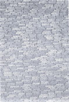 Roman Opalka - One To Infinity (1965). Starting in the top left-hand corner of the canvas and finishing in the bottom right-hand corner, Opalka began painting numbers from one to infinity (the final number was 5607249).