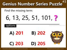 5 Number Series Puzzles that will blow your mind – Genius Math Puzzles Brain Teasers With Answers, Brain Teasers For Kids, Number Riddles, Math Numbers, Brain Busters, Current Affairs Quiz, Railway Jobs, Fun Brain, Bell Work