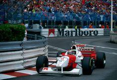David Coulthard, McLaren MP4/11 - Mercedes-Benz 3.0 V10. GP Mónaco 1996. Utiliza uno de los cascos de repuesto de Schumacher. #F1/