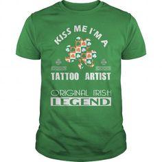 Cool KISS tattoo artist ORIGINAL IRISH LEGEND T shirts