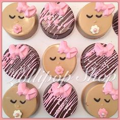 12 Babygirl baby shower Chocolate covered oreos Baby shower