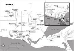 Map of Homer, Alaska