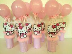 Cumpleaños Fiesta Infantil Hello Kitty Centros De Mesa