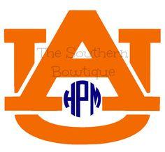 Auburn University Monogram Decal  Auburn by ShopSouthernBowtique
