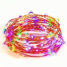 Albrillo Fairy String Lights Battery Multi-color 33ft 100 LEDs $7.99 #AD #Sponsored  https://www.amazon.com/dp/B01MAU99I4