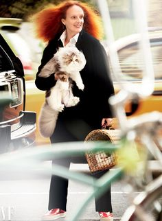 Mario Testino Photographs Grace Coddington in Vanity Fair.